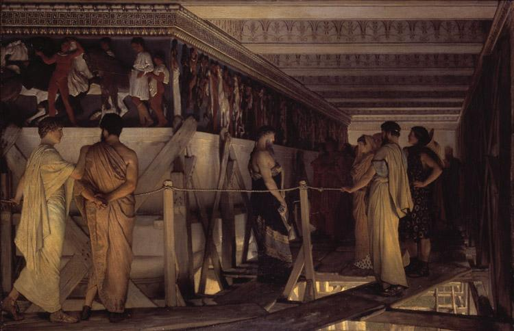 Alma-Tadema, Sir Lawrence Phidias Showing the Frieze of the Parthenon to his Friends (mk23) oil painting image